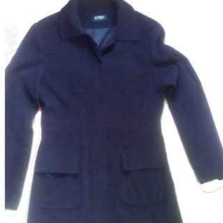 Trench Coat Women's Coat Blazer Color Black