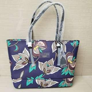 Guess Blue Floral Shoulder Bag