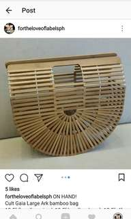Authentic Cult Gaia Large Ark bamboo bag