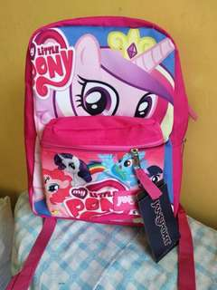 Medium size my little pony backpack with free laptop compartment