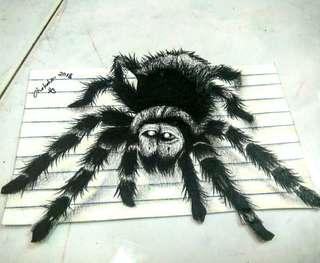 3D Spider art
