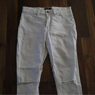 Glassons White Ripped Denim Jeans