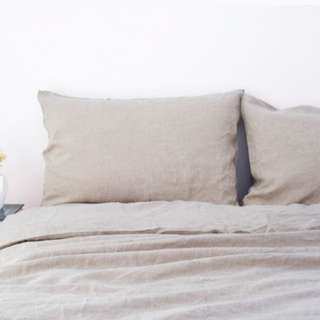 Pure French linen quilt cover - King size