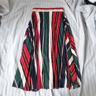 REDUCED. Stripe pleated skirt