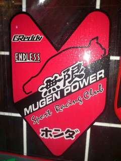 Mugen Power - Window Car Sticker