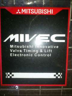 Mivec - Window Car Sticker