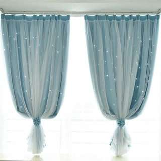 Little star 2 layer curtain