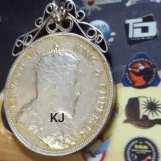 50 cent king edward antique pendant