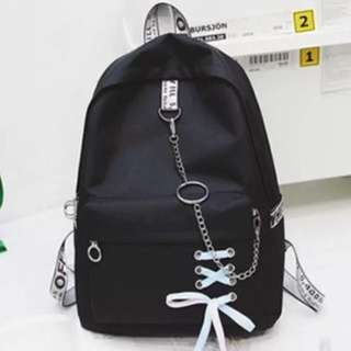 Korean style student Backpack couple bag