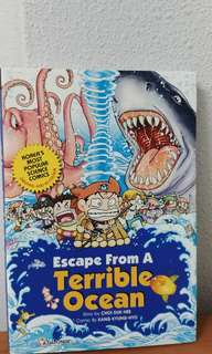 Escape from terrible ocean comics book science comic book