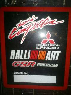 RalliArt Window Car Sticker