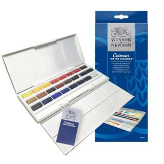 Winsor and Newton Cotman : The Studo Set 24 Whole Pans