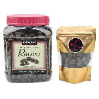 KIRKLAND Raisins Milk Chocolate 100g