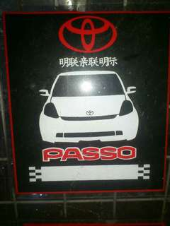 Passo Window Car Sticker