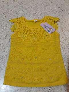 Kaos kuning anak new