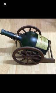 CLEARANCE SALES {Collectibles Item - Vintage Display/Ornament} Rare Big 3 Litres COURVOISIER The Brandy Of Napoleon COGNAC Empty Bottle Display/Ornament Come With Cart 手推車