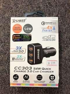 [🇭🇰行貨] Xpower CC3Q3 快充3.0車用充電器