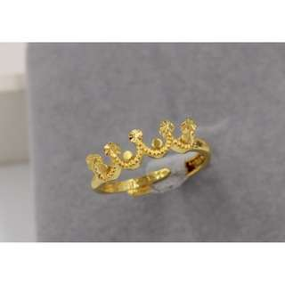 Adjustable Gold Plated Women Ring