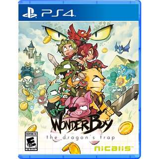 [NEW NOT USED] PS4 Wonder Boy The Dragon's Trap Sony PlayStation Nicalis Platform Games