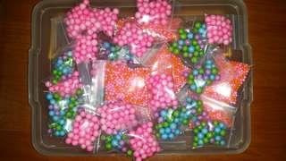 Coloured foam beads
