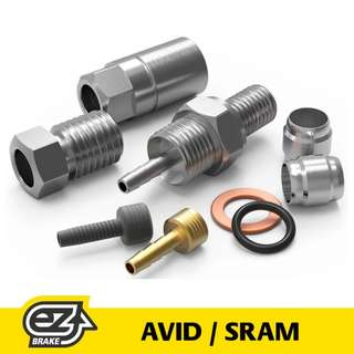 🆕! EZMTB Sram Avid Hydraulic Brake Hose Connect Adapter Service Pack    #OK