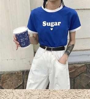 Kuma🐻 (2件$500)韓國圓領撞色上衣