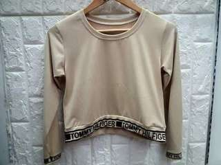 Longsleeves crop top fits up to small-medium