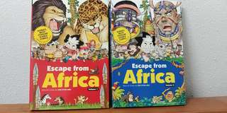 Escape from africa science comics book
