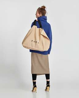 Authentic BNWT ZARA Jute Tote Bag (Extra Large)
