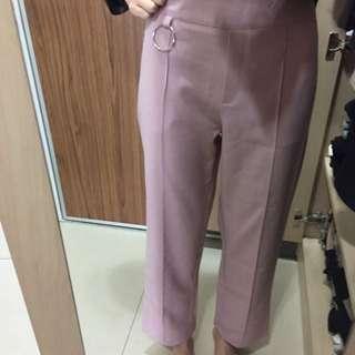粉色 雪紡長褲 全新 #一百元好物