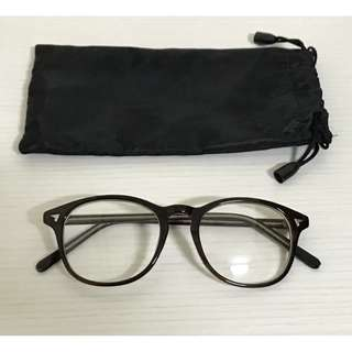 深咖啡眼鏡 復古平光眼鏡 文青鏡框鏡架 文藝眼鏡架