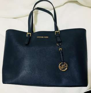 Michael Kors Large Navy Tote Bag