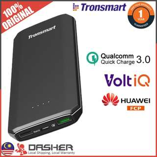 [ HOT! ] TRONSMART EDGE 10000MAH QC 3.0 VOLTIQ FCP POWERBANK