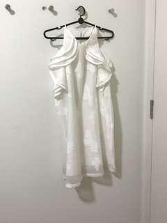 BN White butterfly print garden dress
