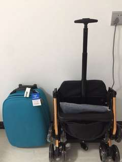 Size of luggage stroller