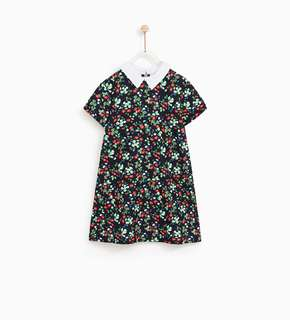 Authentic BNWT ZARA Kids Peter Pan Collared Dress Size 13-14 Years Old (Adult UK 4-UK 6)