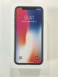 New iPhone X 64GB Space Gray