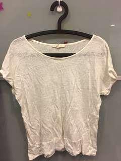 🚚 隨便賣!Esprit 上衣/短袖/米白色