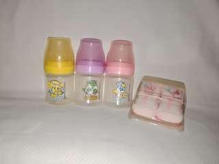 Repriced!!!Feeding bottles 4oz and new born socks