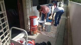 Home paint. Professional painter