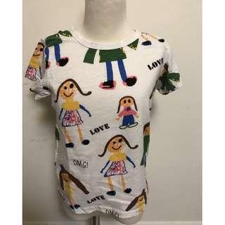 💠現貨2018夏款~韓國童裝可愛女孩滿版短袖T恤甜甜價💠