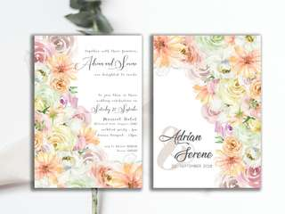 Wedding invite cards and stationery customisation and print