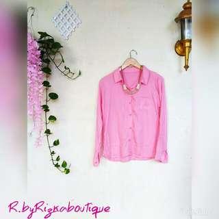{New} Listya Pink Blouse