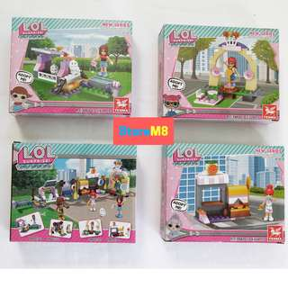 LOL LIKE SURPRISE BRICK BUILDABLE - 4 PACKS - DISCOUNTED!