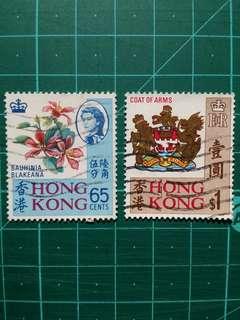 1968 香港市花及市徽 舊票一套