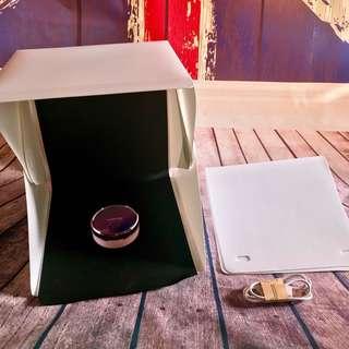 Mini Studio Photobox Lipat + Lampu LED