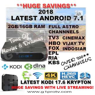 (UPDATED 10/6/18) INSTOCK ANDROID 7/ ANDROID TV BOX MOON TV BUNDLE PACKAGE
