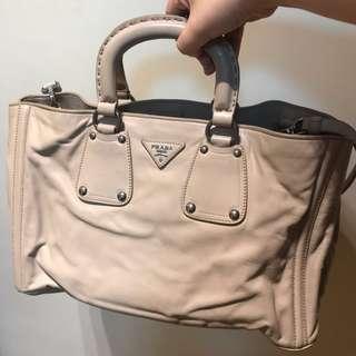Prada Handbag 手袋. Soft calf. Quarzo