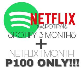Spotify and Netflix Promo Bundle
