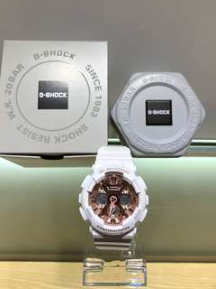 Casio g-shock mini baby-g white rose gold 錶